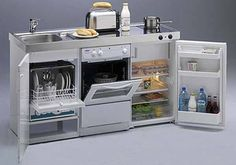 Mini kitchen compact for guest house More #TinyHomeAppliances