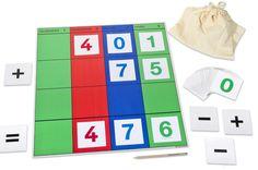 Unschlagbar einfach: so erklärt man heute Stellenwerte mit Montessori-Material.