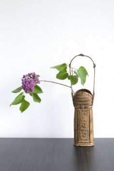 Chabana with Lilac in a Japanese bamboo basket | Flickr - Photo Sharing!