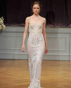 Alon Livné Fall 2017 Wedding Dress Collection   Martha Stewart Weddings – Sleeveless sheath wedding dress