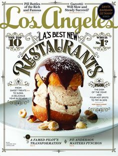 Los Angeles magazine. Nice use of window/sign painters' style.