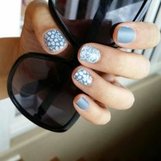 I totally love this combo. From their newest Spring / Summer 2015 catalog. Blue Jeans in matte finish and layered with Leo Geo & Lace. Great Nails, Perfect Nails, Gorgeous Nails, Cool Nail Art, Cute Nails, Jamberry Nails Consultant, Jamberry Nail Wraps, Jamberry Style, Mani Pedi