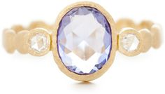 Featured: Dewdrop Band with Blue Sapphire and 2 Diamonds