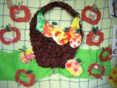 ovocný koš Fall Crafts, Crochet Necklace, Preschool, Kids, Inspiration, Autumn Crafts, Crochet Collar, Children, Biblical Inspiration