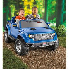 Kaiden's first birthday present Power Wheels Ford F-150 Raptor 12-Volt Battery-Powered Ride-On