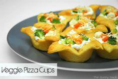 Veggie Pizza Cups Quick Appetizer Recipe