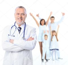 Photo about Family doctor and patients. Isolated over white background. Image of family, healthcare, adult - 38738411 Family Images, Family Doctors, Background Templates, Health Care, Health