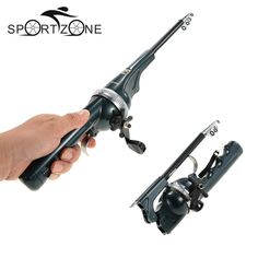 Folding mini rod folding rod telescopic pole portable fishing rod with fishing line carp fishing vara de pesca fishing tackle