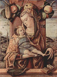 Carlo Crivelli (Venice,1435-1495) ~ Madonna and Child ~ 1480-1486 ~ Ancona   AT