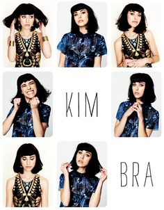 Obsessed with Kimbra's long bob and squared-off bangs. Love.