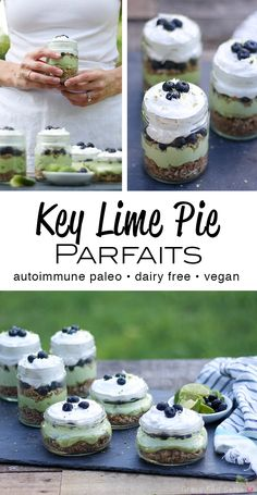 You're in for a creamy and refreshing treats with these Autoimmune Paleo (AIP) friendly key lime pie parfaits. These parfaits are nut free, gluten free, and dai