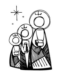 Hand drawn vector illustration or drawing of the three biblical wise men Christian Drawings, Christian Art, Three Wise Men, Sacred Art, Bible Art, Religious Art, Painting For Kids, Coloring Pages For Kids, Christmas Crafts