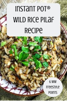 Easy Rice Pilaf, Brown Rice Pilaf, Wild Rice Pilaf, Rice Pilaf Recipe, Instant Pot, Wild Rice Recipes, Leftovers Recipes, Dinner Recipes, Cooking Recipes