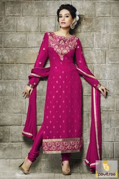 Bollywood Amrita Rao actress dark pink santoon dress is nicely adorned by embroidery work. Buy this famous and chic celebrity heroin salwar suit online now. #salwarkameez, #salwarsuit, #designersalwarsuit, #bollywoodstarsalwarkameez, #embroiderysalwarkameez, #amritaraowearsalwarsuit, #churidarsalwarkameez, #straightsalwarsuit, #longdress More: http://www.pavitraa.in/catalogs/vivah-bollywood-movie-actress-amrita-rao-salwar-suits-online-collection/ Any Query: Call Us:+91-7698234040
