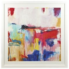 RECEPTION: Coloured Abstract Print 108x108cm For over sofa $449. Thought I saw this in Freedom as a Canvas too