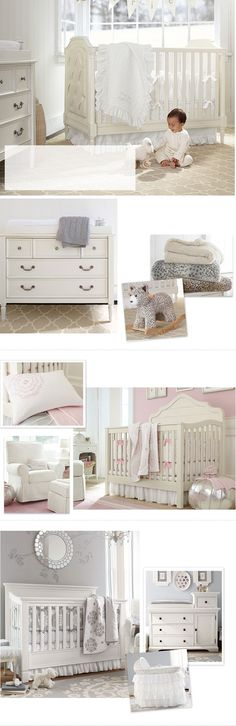 Classy baby nursery...Love! Inspiration for baby Cannon's room :-)