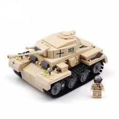 Brick Minifigure WWII German Panzerkampfwagen III Tank (548 Pieces)