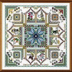 See the pretty Tinctorium - The Medieval Dyer's Garden Mandala (cross stitch) at Nordic Needle