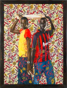 """Place Soweto (National Assembly), 2008  Oil on canvas 96"""" x 72""""  -Kehinde Wiley Studio"""