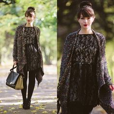 Lace dress (by Paulina R.) http://lookbook.nu/look/4175612-Lace-dress