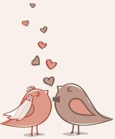 pajaritos enamorados