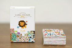 Lovely Mini Label Sticker Set - 52 stickers