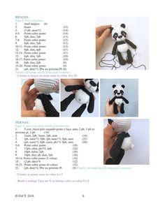 Crochet Cow, Crochet Patterns Amigurumi, Amigurumi Doll, Free Crochet, Crochet World, Disney Cross Stitch Patterns, Panda, Free Pattern, Knitting