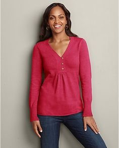 Henley Sweatshirt Sweater   Eddie Bauer