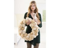 Winter Pales Pom-Pom Wreath (Crafts)
