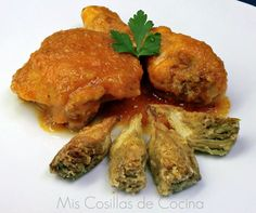 Pollo en salsa a la sidra