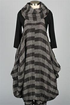 Dress To Kill - Cowl Dress - Plaid Gauze - Skirts & Dresses at Fawbush's