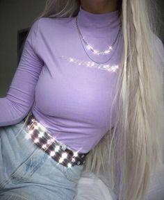 35 Purple Clothes Every Girl Should Keep - Fashion New Trends 35 roupas roxas que toda garota deve guardar # roupas fashion Lila Outfits, Purple Outfits, Trendy Outfits, Cute Outfits, Aesthetic Fashion, Look Fashion, Aesthetic Clothes, Purple Fashion, Retro Fashion