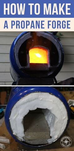 How to Make a Propane Forge There is really no limit to the things you can make with a working forge. With the right tools this creation seems pretty easy to make. Find out how! Forge Diy, Build A Forge, Home Forge, Forging Tools, Forging Metal, Metal Projects, Welding Projects, Blacksmith Projects, Welding Ideas