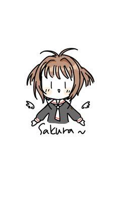 Eeee I love this art! Cute Wallpaper Backgrounds, Cartoon Wallpaper, Cute Lockscreens, Xxxholic, Chinese Cartoon, Card Captor, Anime Stickers, Anime Screenshots, Cardcaptor Sakura