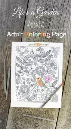 Life's a Garden coloring page created by artist, Rachel Beyer. Coloring is so relaxing and meditative.