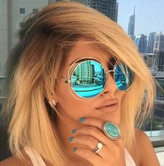 XXL Halo Double Wire Oversized Big Round ROXANNE Bohemian Coachella Sunglasses click to come online shopping!
