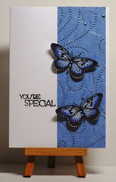 Cathys Card Spot: Butterflies with designer paper