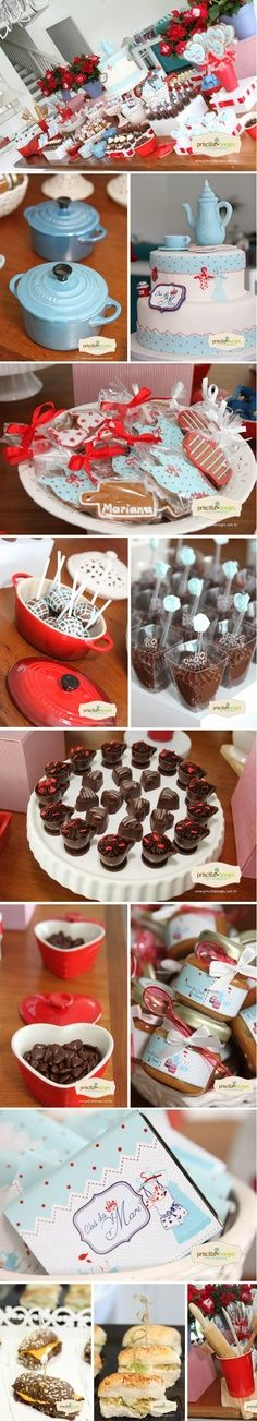 What a lovely party theme Kitchen Shower, Bridal Shower, Baby Shower, Ideas Para Fiestas, Deco Table, Dessert Table, Diy Wedding, Wedding Photos, Party Planning