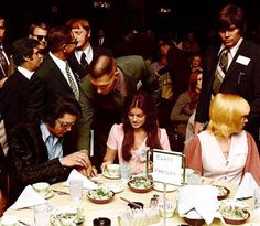 Elvis & Cilla at JC's awards - Charlie Hodge, Red and Sony West in background