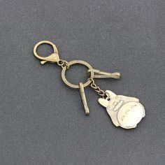 Moda Kişilik moda karikatür Hayao Miyazaki Totoro metal araba anahtarlık anahtarlık anahtarlık anahtarlık anahtarlık modeli hediyeler