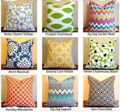 WOW!  What a great idea - No more storing pillows! Gorgeous Festive Pillow Covers - 9 Designs to Choose From!  AND they are totally inexpensive!  LOVE this!