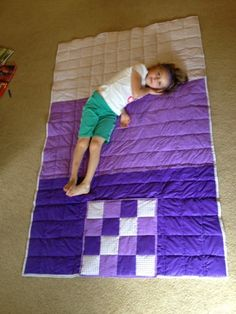 It's a quilt. It's a pillow. It's a Quillow ... and it's finally done!   I had one of these made for me when I was a child. I used to ...
