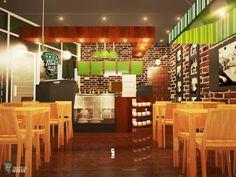 Architectural Rendering: Proposed TZM Rustic Coffee Shop/Restaurant Interior Design