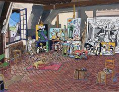Damian Elwes - Picasso's Studio -Paris