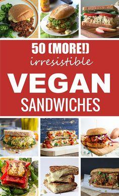 50 verschiedene Rezept Ideen für Sandwiches - alle VEGAN *** 50 Irresistible Vegan Sandwiches
