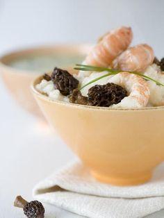 Recette Risotto aux langoustines et aux morilles, notre recette Risotto aux langoustines et aux morilles - aufeminin.com
