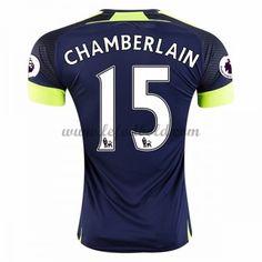 Billige Fodboldtrøjer Arsenal 2016-17 Chamberlain 15 Kortærmet Tredjetrøje