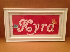 My first Cricut project! For my sweet new niece :)