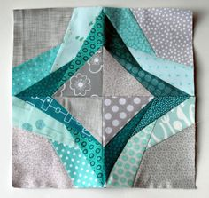 Paper pieced block - Love the colors