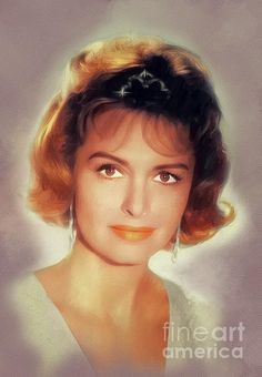 Painting - Donna Reed, Vintage Actress by Esoterica Art Agency , Classic Actresses, Hollywood Actresses, Actors & Actresses, Beautiful Celebrities, Beautiful Women, Beautiful People, The Donna Reed Show, Westerns, Cinema